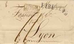 1832- Lettre De FIRENZE  - T.S. Entrée ITALIE /P.LE PONT-DE / BEAUVOISIN  Encadré  Pour Lyon - 1. ...-1850 Prefilatelia