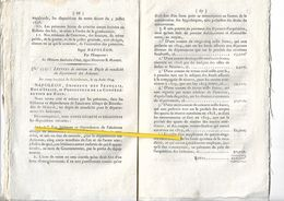 08   BULLETIN DES LOIS NAPOLEON  1809 LETTRE CREATION DU DEPOT DE MENDICITE DES ARDENNES - Wetten & Decreten