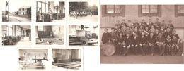Dépt 61 - L'AIGLE - ÉCOLE DE GARÇONS En 1933 - LOT De 8 Photos 6,3 X 9 Cm + Une Photo 17 X 23 Cm (orchestre) - Laigle - L'Aigle