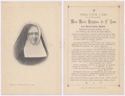 Belgique - Mortuaire : Révérende Mère Marie Delphine De St Anne, Supérieur Général Pendant 24ans. Namur 24/11/1894 - Todesanzeige