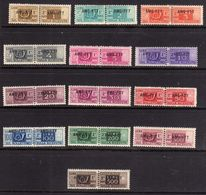 TRIESTE A 1949 1953 AMG-FTT ITALY OVERPRINTED SOPRASTAMPATO D' ITALIA PACCHI POSTALI SERIE COMPLETA COMPLETE SET MNH - Paketmarken/Konzessionen