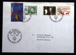 Greenland 1983 Letter Sent To Denmark Special Christmas Cancel Sdr. Strömfjord 17-12-1983 Christmas Seals ( Lot 79 ) - Groenland