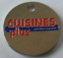Jeton De Caddie - CUISINES Plus - Cuisines Et Bains - En Métal - - Jetons De Caddies