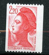 France, Spink/Maury, 2385j**, Liberté 2f20 Rouge Roulette N° Rouge Type B Sans Bande De Phosphore Gomme Mate, MNH - Variétés: 1990-99 Neufs