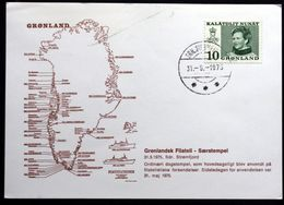 Greenland 1975 Special Cancellation On Card, SDR Strømfjord 31.5.1975,last Day Card ( Lot 90) - Cartas
