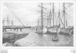22 PAIMPOL. Goëlettes Islandaises Au Bassin à Flot 1935. Carte Photo émaillographie - Paimpol