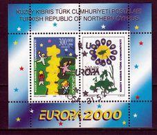 Cyprus(Turkije) Blok Europa Cept 2000 Gestempeld Fine Used - 2000