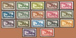 INDOCHINE  1933-38 - Série 17 Valeurs - PA  1 à 14 - NEUFS* - Cote 19.37e - Indochine (1889-1945)