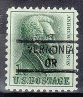 USA Precancel Vorausentwertung Preo, Locals Oregon, Vernonia 841 - Estados Unidos