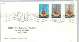 FDC ETHIOPIA - 1967 – Montreal (Canada)