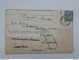 "Enveloppe "" War Service "" Envoyée De Bordon Hants En Angleterre Vers Locquirec Via Pontivy En 1918 ... Lot65 . - 1902-1951 (Rois)"