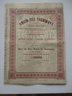 Union Des Tramways - Action De Jouissance - 1895 - Transports