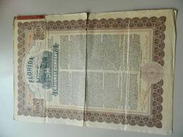 ACTION 100 DOLLARS FORIDA RAILWAY COMPANY 1940 - Chemin De Fer & Tramway