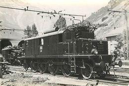 Photo Gare Train Locomotive Chemin De Fer Loco Italienne - Estaciones Con Trenes