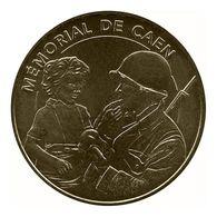 Monnaie De Paris , 2010, Caen , Mémorial , Le Soldat Américain Et L'enfant - Monnaie De Paris