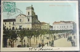 ITALY ITALIA Cartolina 1913 AVELLINO Piazza Della Liberta - Campania - Avellino