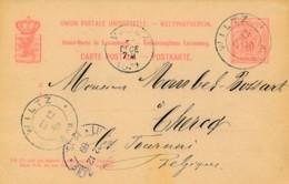 Luxembourg – Entier 1989 – Wiltz Vers Tournai - Enteros Postales