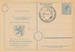 DDR Entier Postal 1947 -Frechen Oblitération Cruche Pour Bière Avec Tête - Typique Pour Pays Baltiques – Château - Privatpostkarten - Gebraucht