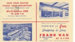 USA Portland 1958- Entier Postal Repiqué Avec Publicité Pour Une Pharmacie - 1941-60