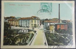 ITALY ITALIA Cartolina 1913 AVELLINO Via Due Principati - Campania - Avellino