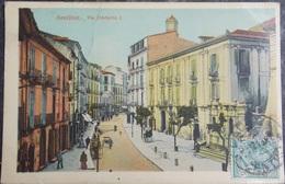 ITALY ITALIA Cartolina 1913 AVELLINO Via Umberto I - Campania - Avellino