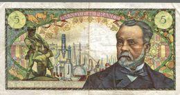 Billet De Cinq Francs  PASTEUR - 1962-1997 ''Francs''
