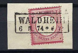 ALLEMAGNE 1872: Le Y&T 16 Obl. CAD Linéaire Waldheim Du 6.II.74 - Germany
