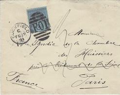 1891- Cover Fr. 2 1/2 P. Ann.  CUCKFIELD /  F 01 - Storia Postale