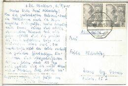 BALEARES MALLORCA T POSTAL CON MAT AMBULANTE MARITIMO MALLORCA BARCELONA 4 1955 - 1951-60 Covers