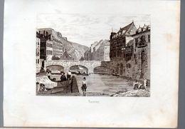 Namur (Belgique)  Gravure De 1833 :vue De La Ville   (PPP23533) - Vieux Papiers