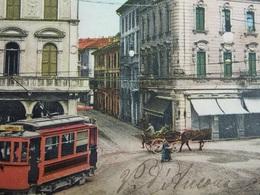 ITALY ITALIA Cartolina 1911 VARESE Piazza Porcari - Lombardia - Varese