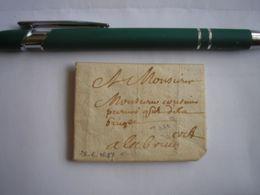 LAC Du 26/06/1657 Avec Pliage En Enveloppe - Belle Curiosité à Déchiffrer - Marcophilie (Lettres)