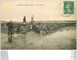50 SAINT PAIR SUR MER. Une Pêcherie 1922. Pêcheurs Poissons Et Crustacés - Saint Pair Sur Mer