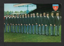 CPM . EQUIPE DU L.O.S.C Saison 70/71 . Ph. F. DELBARRE .(Autographes) 2 - Soccer