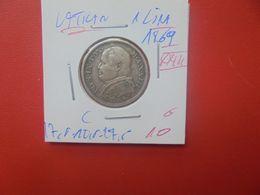 VATICAN 1 LIRA 1869 (XXIII)  ARGENT (A.2) - Vaticano