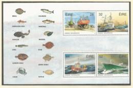 IRELAND 1991 Mint Block MNH(**) Ship - Blocks & Sheetlets