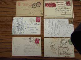 6 Documents Divers Du Luxembourg (dont 1 Ambulant ETTELBRUCK-WASSERBILLIG Et Un Entier Postal REPONSE) - Marcofilie - EMA (Print Machine)