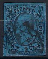 ALLEMAGNE Saxe 1855: Le Y&T 9 Obl. Couronne De Cercle - Saxony