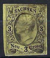 ALLEMAGNE Saxe 1855: Le Y&T 10 Obl. Couronne De Cercle - Saxony