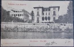 ITALY ITALIA Cartolina 1903 PALLANZA Villa Branca Villa Biffi - Piemonte - Italie