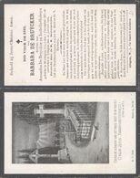 Belgique - Mortuaire : Barbara De Bruycker Maldegem 6/12/1851 - Adegem 26/1/1929  / Reeks A N°36 - Todesanzeige