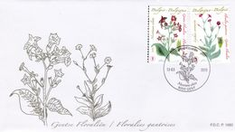 Enveloppe Cover Brief FDC 4000 4001 Floralies Gantoises Gent - 2001-10