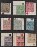 MALTA 1928 UNMOUNTED MINT CONTROL NUMBER MARGINAL BLOCKS OF 4 TO 6d SG 174/177, 180/185 - Malte (...-1964)