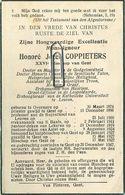 Honoré Coppieters : Overmere 1874 - Gent 1947  ( See Scans ) Pastoor Deken Aalst - Lokeren - Andachtsbilder