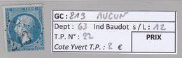 GC 213 Aucun ( Dept 63 ) S / N° 22 - Marcophily (detached Stamps)
