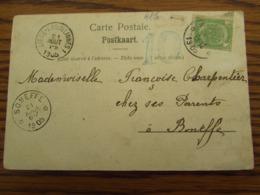 Carte Vue De Alle-Sur-Semois Oblitérée Du RELAIS De ALLE (peu Marqué!) Pour Le RELAIS De BONEFFE + Cachet De L'AMBULANT - Postmark Collection
