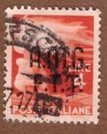 AMGFTT017 AMG-FTT  1947 SERIE DEMOCRATICA SOPRASTAMPATA LIRE 4 SASSONE NR 6 USATO - Usati