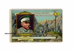 König Peter Von Serbien, Der Krieg Auf Dem Balkan, Serbische Truppen überschreiten Die Türkische Grenze, Sammelbild - Andere