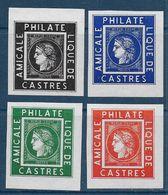 4 Vignettes **  Amicale Philatélique De Castres - Commemorative Labels