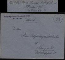 WW II DR Marine Feldpost Briefumschlag : Gebraucht Seefliegerhorst Hörnum Sylt - Leipzig 1940 ,Bedarfserhaltung Ohne I - Duitsland